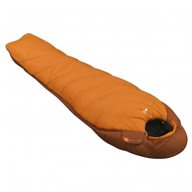 Men's sleeping bag - trekking - orange BAIKAL 1100 LONG Millet