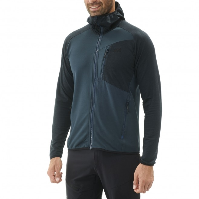 Men's lightweight fleecejacket - hiking - navy-blue SENECA TECNO HOODIE Millet 2