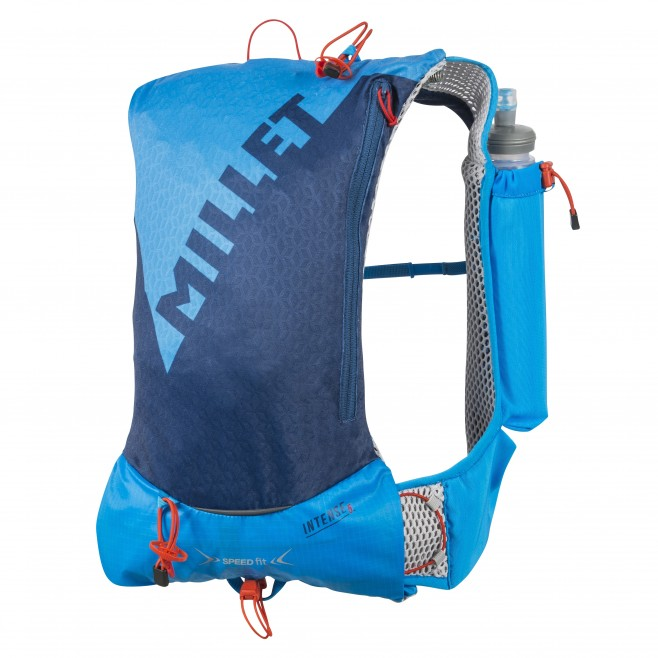 Backpack - trail running - blue INTENSE 5 Millet
