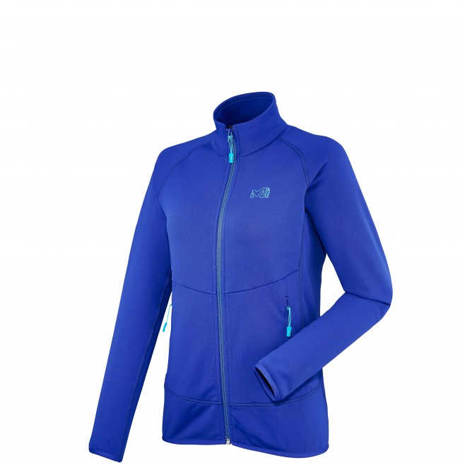 Trekking - Women's fleece jacket - Violet LD TECHNO STRETCH JKT Millet