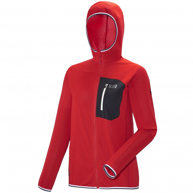 Mountaineering - Women's Jacket - Red LD TRILOGY LIGHT HOODIE Millet