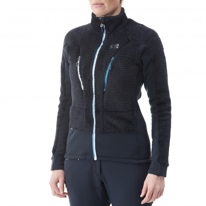 women's navy blue mountaineering fleece LD TRILOGY X WOOL JKT Millet 3