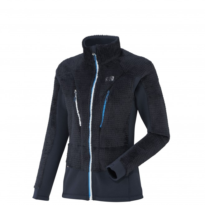 women's navy blue mountaineering fleece LD TRILOGY X WOOL JKT Millet