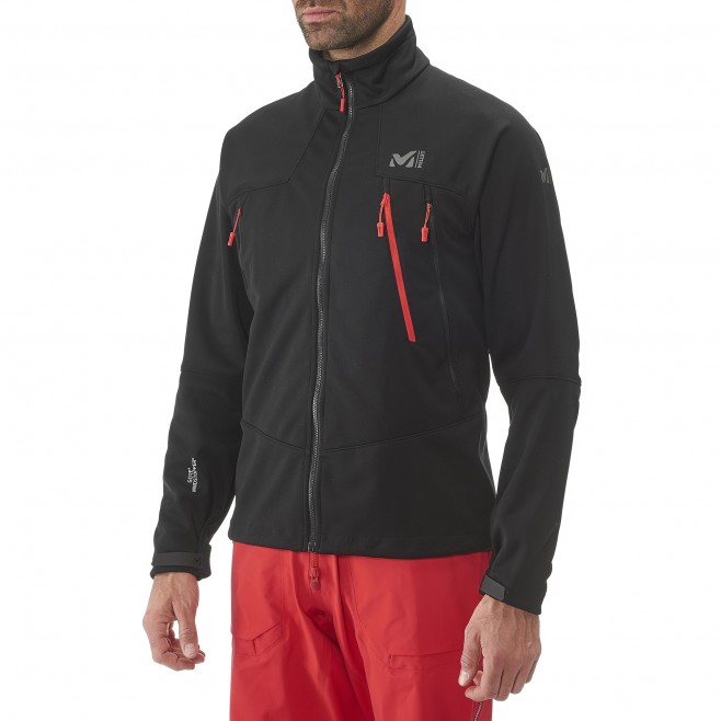 men's black mountaineering softshell K WDS JKT Millet 8