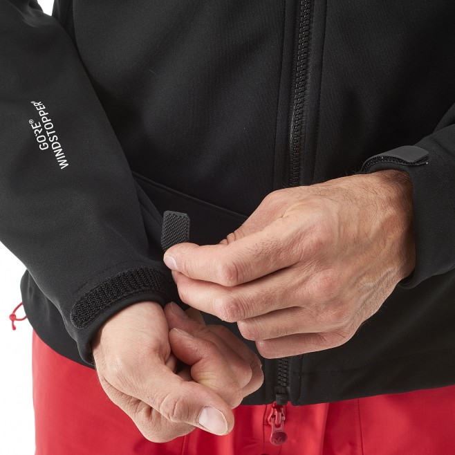 men's black mountaineering softshell K WDS JKT Millet 7