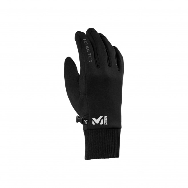 black hiking gloves CELL TOUCH GLOVE Millet