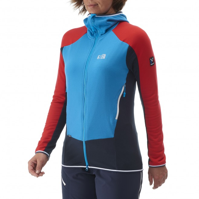 Mountaineering - Women's fleece jacket - Blue LD TRILOGY DUAL WOOL HOODIE Millet 2
