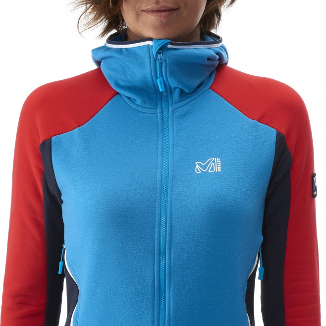 Mountaineering - Women's fleece jacket - Blue LD TRILOGY DUAL WOOL HOODIE Millet 3