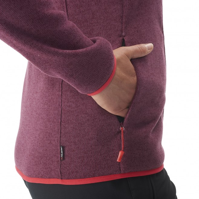 Trekking - Women's fleece jacket - Grey LD WILDER JKT Millet 5