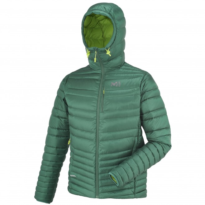 Mountaineering - Men's down jacket - Turquoise HEEL LIFT K DOWN HOODIE Millet 2