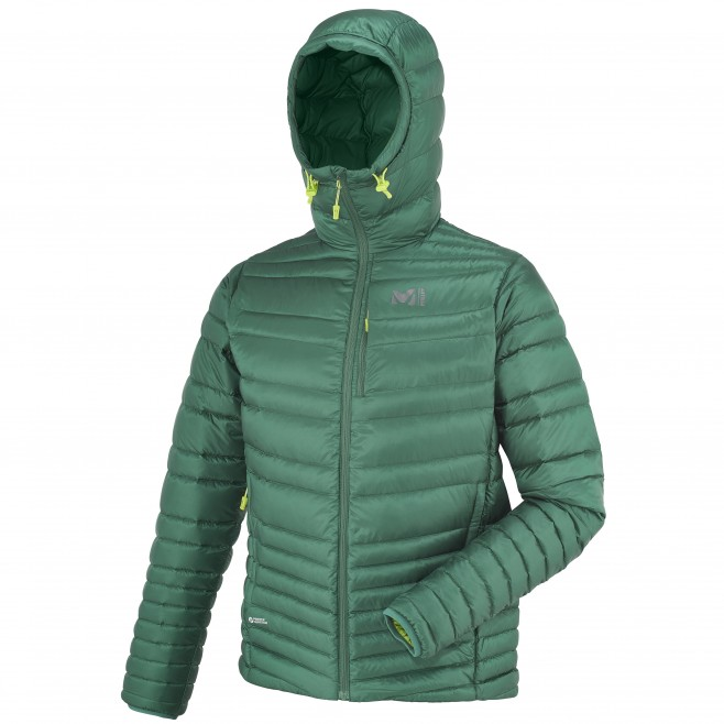 Mountaineering - Men's down jacket - Turquoise HEEL LIFT K DOWN HOODIE Millet