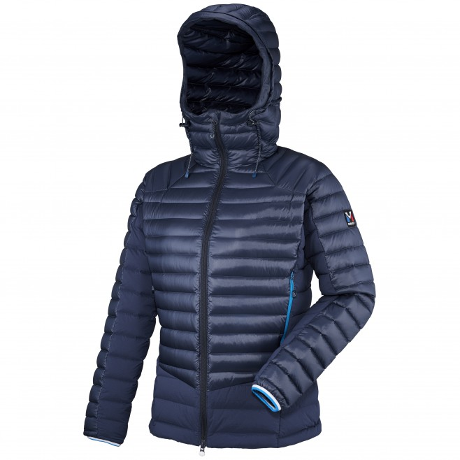 Mountaineering - Women's down jacket - Navy-blue LD TRILOGY DUAL SYNTH'X DOWN HOODIE Millet