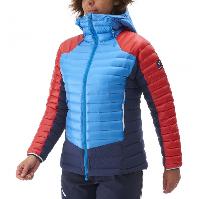 Mountaineering - Women's down jacket - Blue LD TRILOGY DUAL SYNTH'X DOWN HOODIE Millet 8