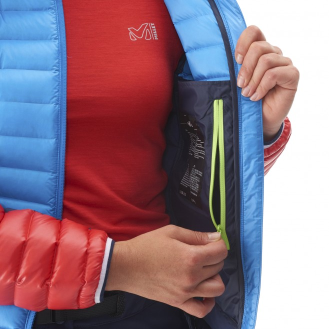 Mountaineering - Women's down jacket - Blue LD TRILOGY DUAL SYNTH'X DOWN HOODIE Millet 10