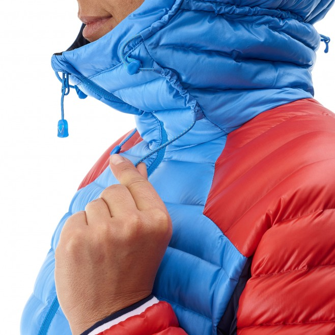 Mountaineering - Women's down jacket - Blue LD TRILOGY DUAL SYNTH'X DOWN HOODIE Millet 7