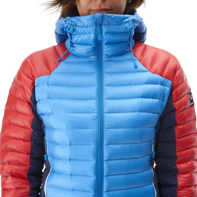 Mountaineering - Women's down jacket - Blue LD TRILOGY DUAL SYNTH'X DOWN HOODIE Millet 9