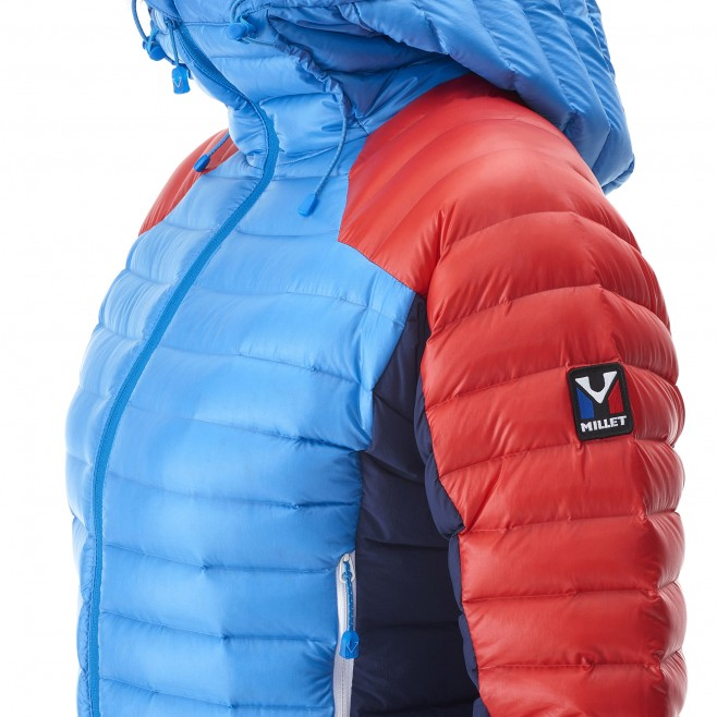 Mountaineering - Women's down jacket - Blue LD TRILOGY DUAL SYNTH'X DOWN HOODIE Millet 11
