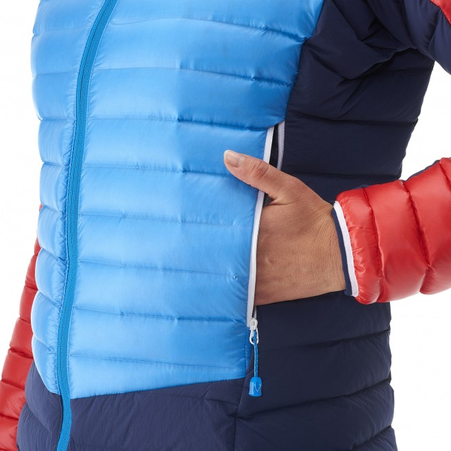 Mountaineering - Women's down jacket - Blue LD TRILOGY DUAL SYNTH'X DOWN HOODIE Millet 13