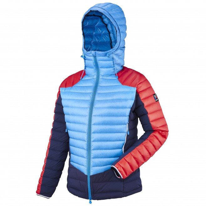 Mountaineering - Women's down jacket - Blue LD TRILOGY DUAL SYNTH'X DOWN HOODIE Millet