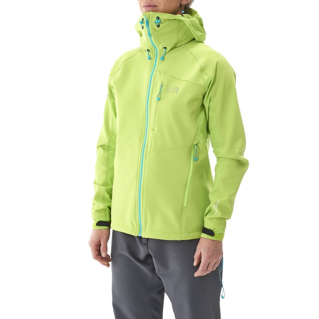 Mountaineering - Women's jacket - Green LD CHAMONIX NEEDLES WDS HOODIE Millet 2