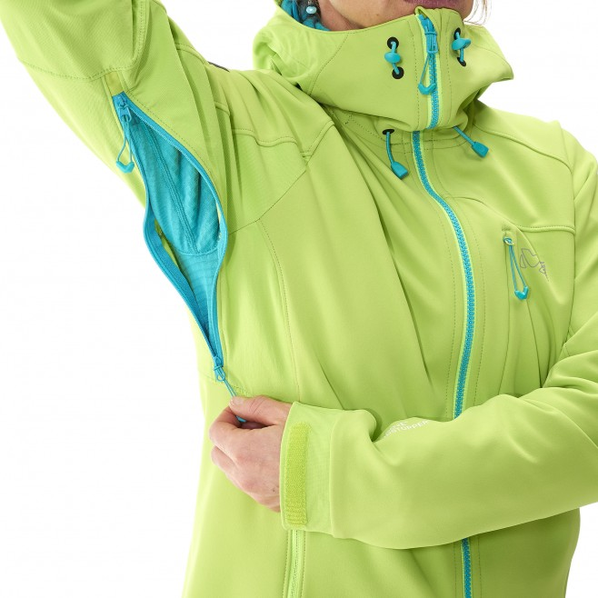 Mountaineering - Women's jacket - Green LD CHAMONIX NEEDLES WDS HOODIE Millet 5