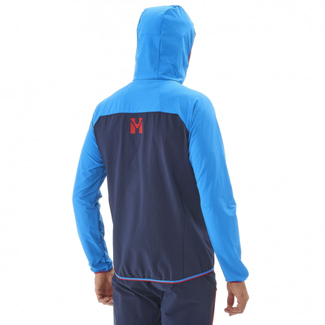 Men's wind resistant jacket - blue TRILOGY ONE CORDURA HOODIE M Millet 3
