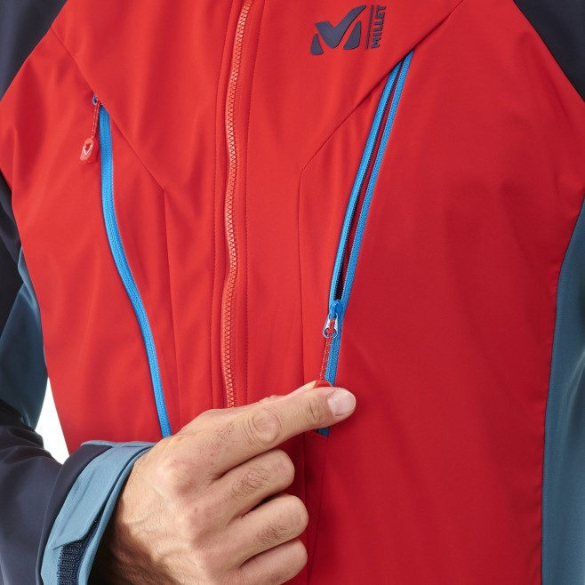 Men's wind resistant jacket - blue TRILOGY V ICON WDS JKT M Millet 4