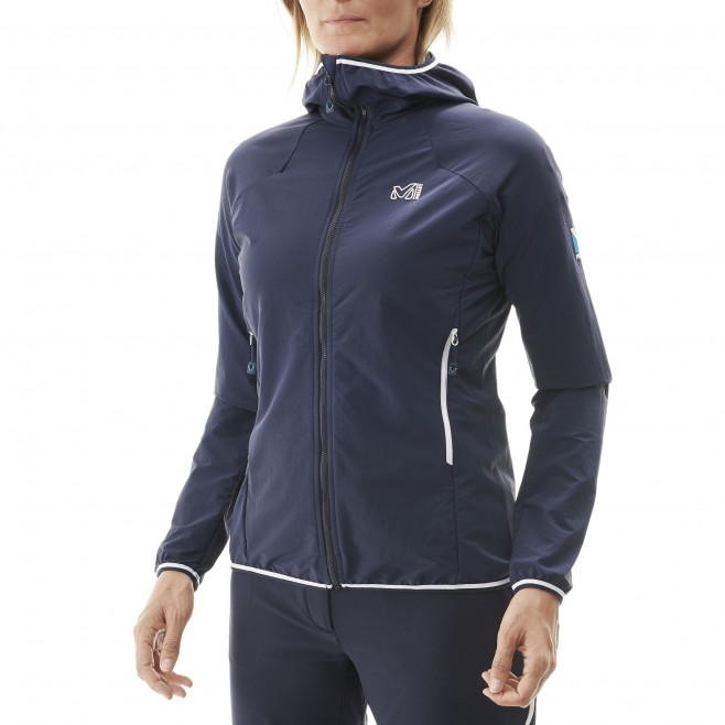 Women's softshell jacket - mountaineering - navy-blue LD TRILOGY CORDURA HOODIE Millet 4