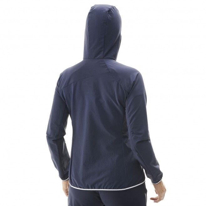 Women's softshell jacket - mountaineering - navy-blue LD TRILOGY CORDURA HOODIE Millet 5