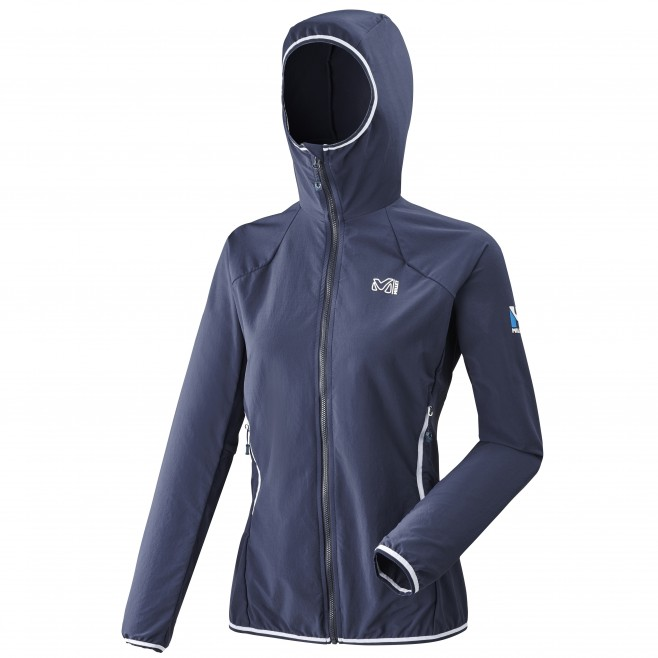 Women's softshell jacket - mountaineering - navy-blue LD TRILOGY CORDURA HOODIE Millet