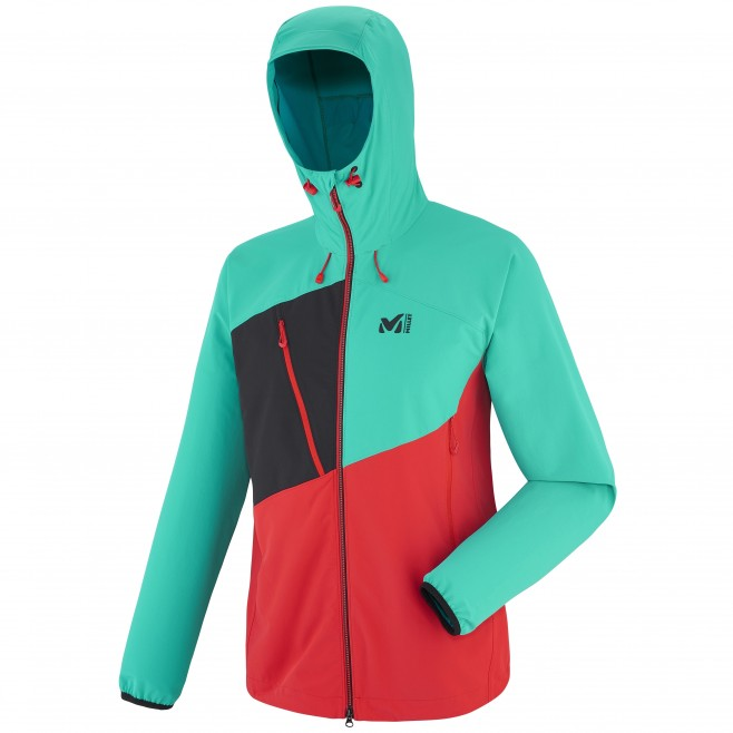 Mountaineering - Men's jacket - Red ELEVATION CORDURA HOODIE Millet