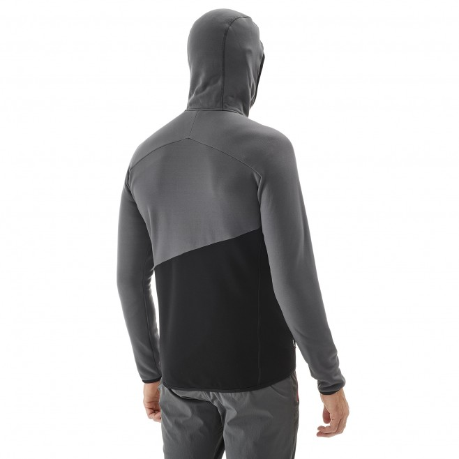 Men's fleece jacket - mountaineering - black ELEVATION POWER HOODIE Millet 3