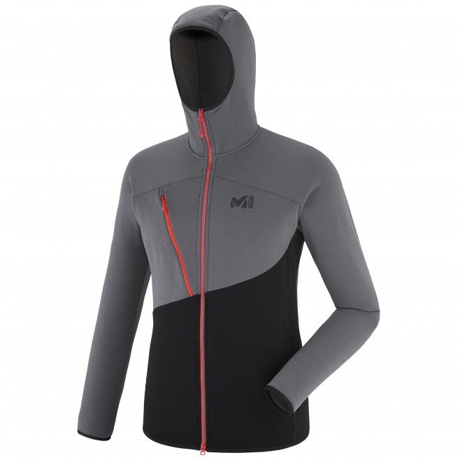 Men's fleece jacket - mountaineering - black ELEVATION POWER HOODIE Millet