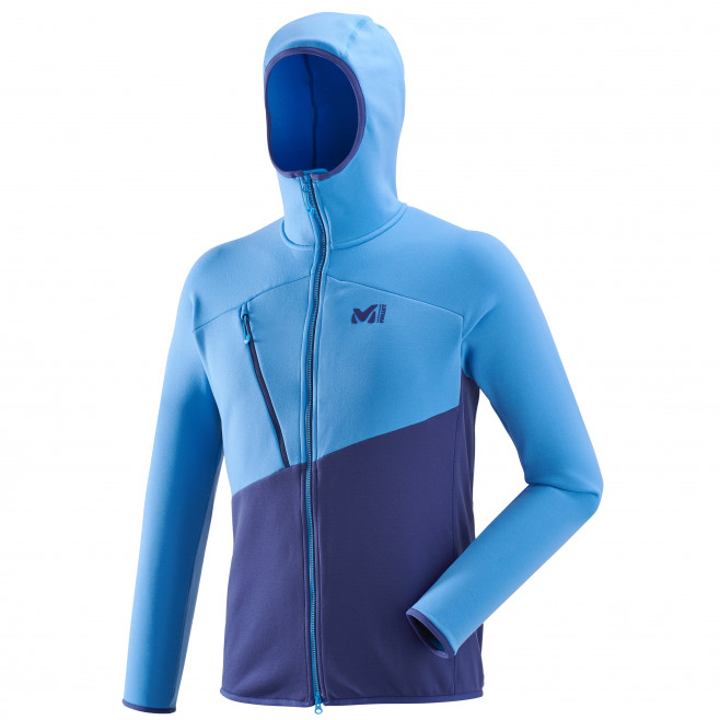 Men's very warm fleecejacket - mountaineering - blue ELEVATION POWER HOODIE Millet