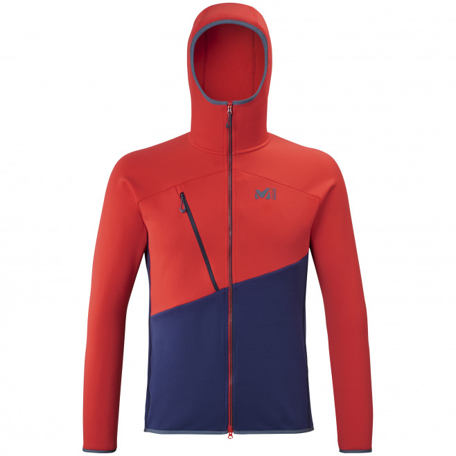 Men's very warm jacket - red ELEVATION POWER HOODIE M Millet