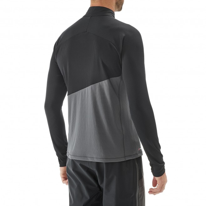 Men's tee-shirt - grey ELEVATION ZIP LS M Millet 3