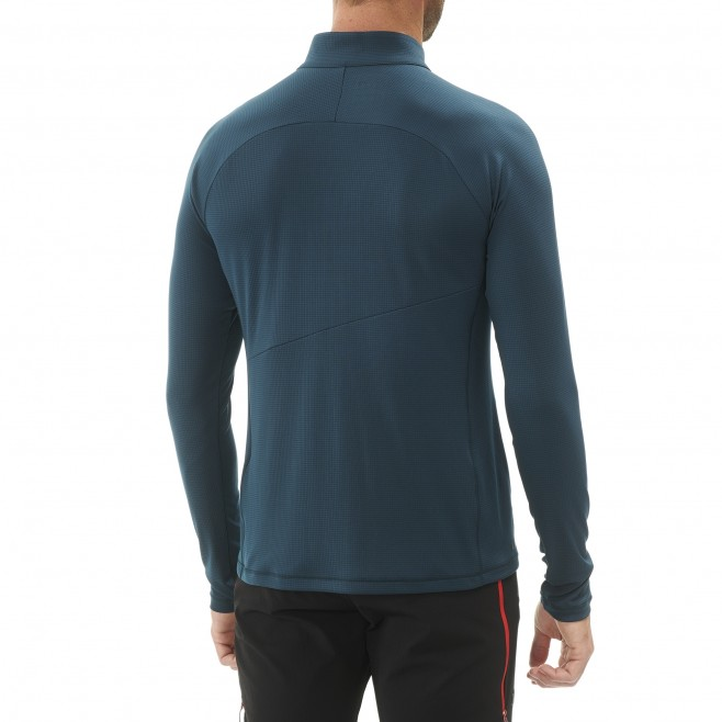 Men's tee-shirt - navy-blue ELEVATION ZIP LS M Millet 3