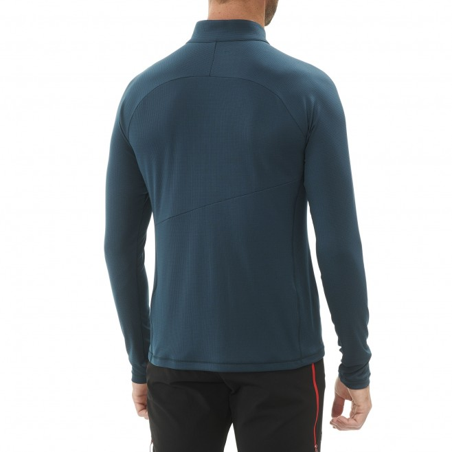 Men's long sleeves t-shirt - mountaineering - navy-blue ELEVATION ZIP LS Millet 4