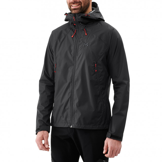 Men's waterproof jacket - black FITZ ROY 2.5L II JKT Millet 2