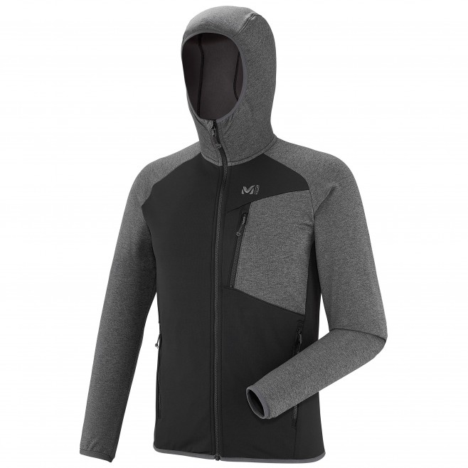 Men's lightweight fleecejacket - hiking - grey SENECA TECNO HOODIE Millet