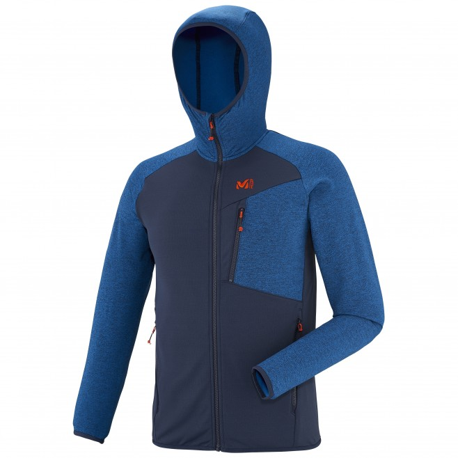 Men's fleece jacket - ski - navy-blue SENECA TECNO HOODIE Millet