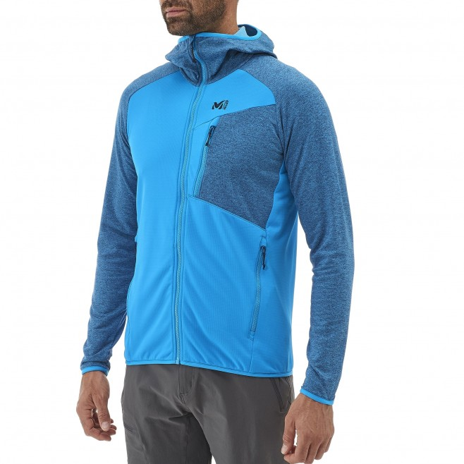 Men's lightweight fleecejacket - hiking - grey SENECA TECNO HOODIE Millet 6