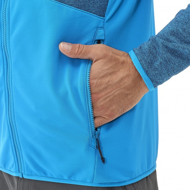Men's lightweight fleecejacket - hiking - grey SENECA TECNO HOODIE Millet 3