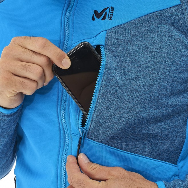 Men's lightweight fleecejacket - hiking - grey SENECA TECNO HOODIE Millet 4