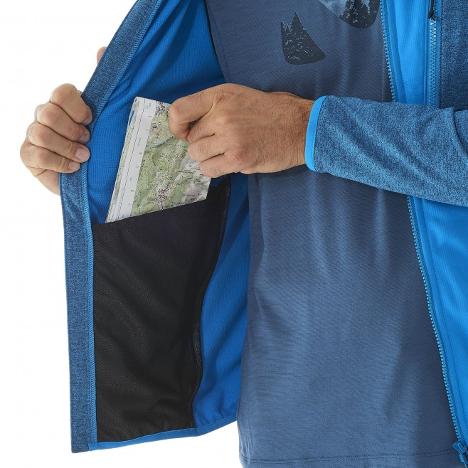 Men's lightweight fleecejacket - hiking - grey SENECA TECNO HOODIE Millet 5