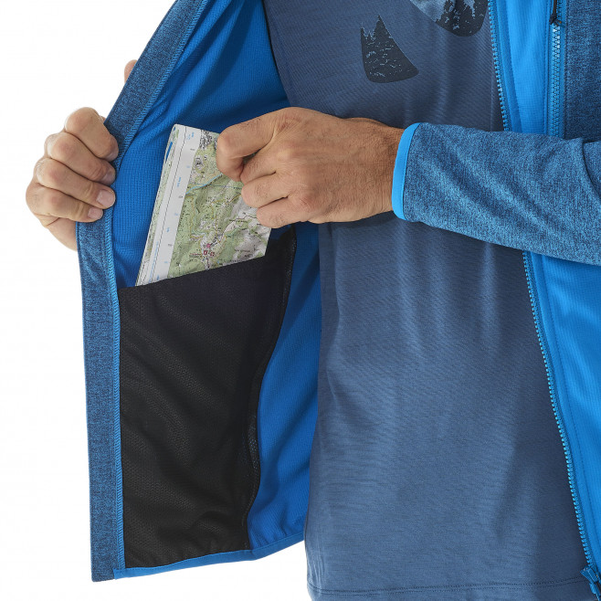 Men's lightweight fleecejacket - blue SENECA TECNO HOODIE Millet 6