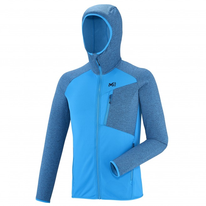 Men's lightweight fleecejacket - hiking - blue SENECA TECNO HOODIE Millet
