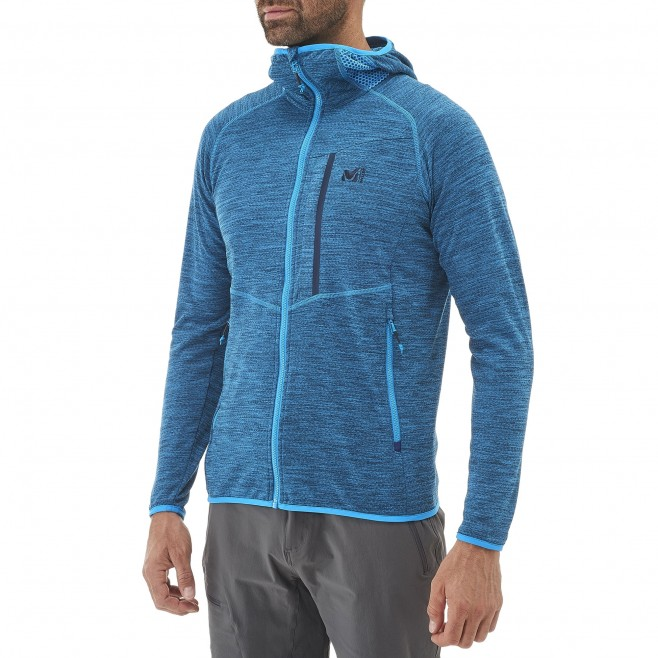 Men's lightweight fleecejacket - hiking - blue LOKKA HOODIE Millet 4
