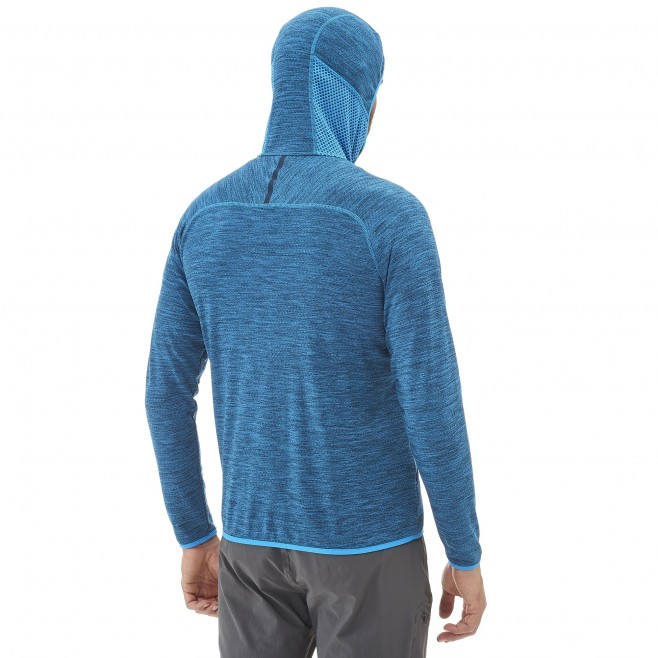 Men's lightweight fleecejacket - hiking - blue LOKKA HOODIE Millet 5