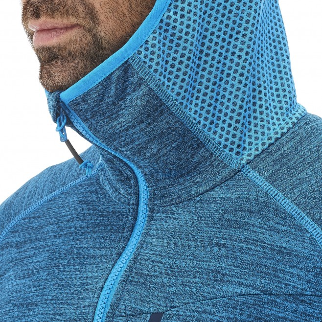 Men's lightweight fleecejacket - hiking - blue LOKKA HOODIE Millet 6